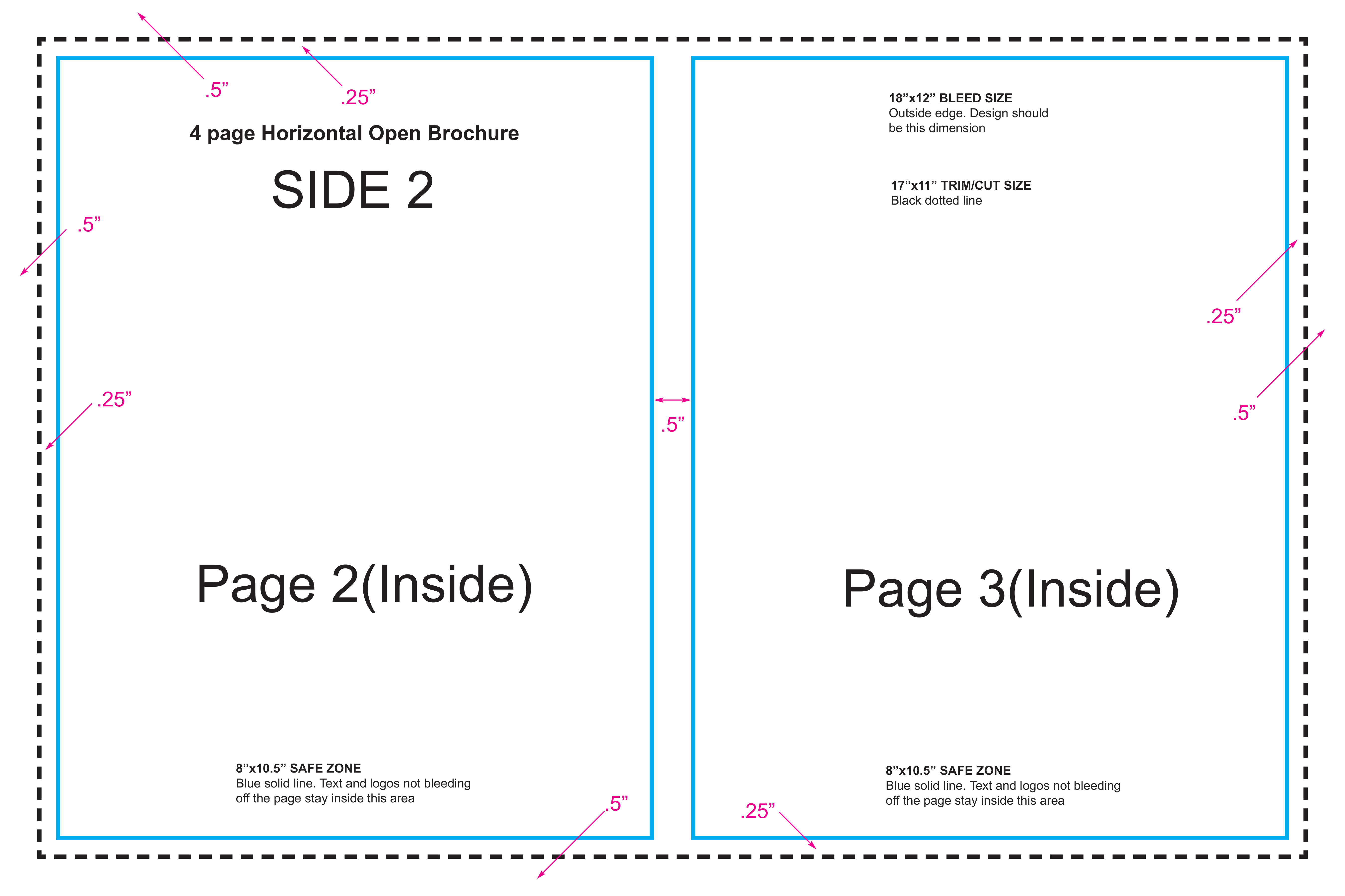 4 page booklet style standard brochure layout guide for 4 page brochure template free